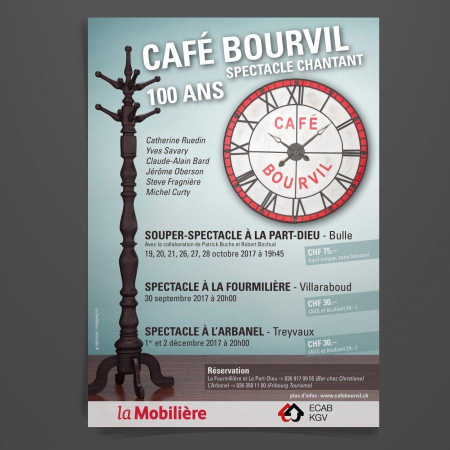 café Bourvil affiche