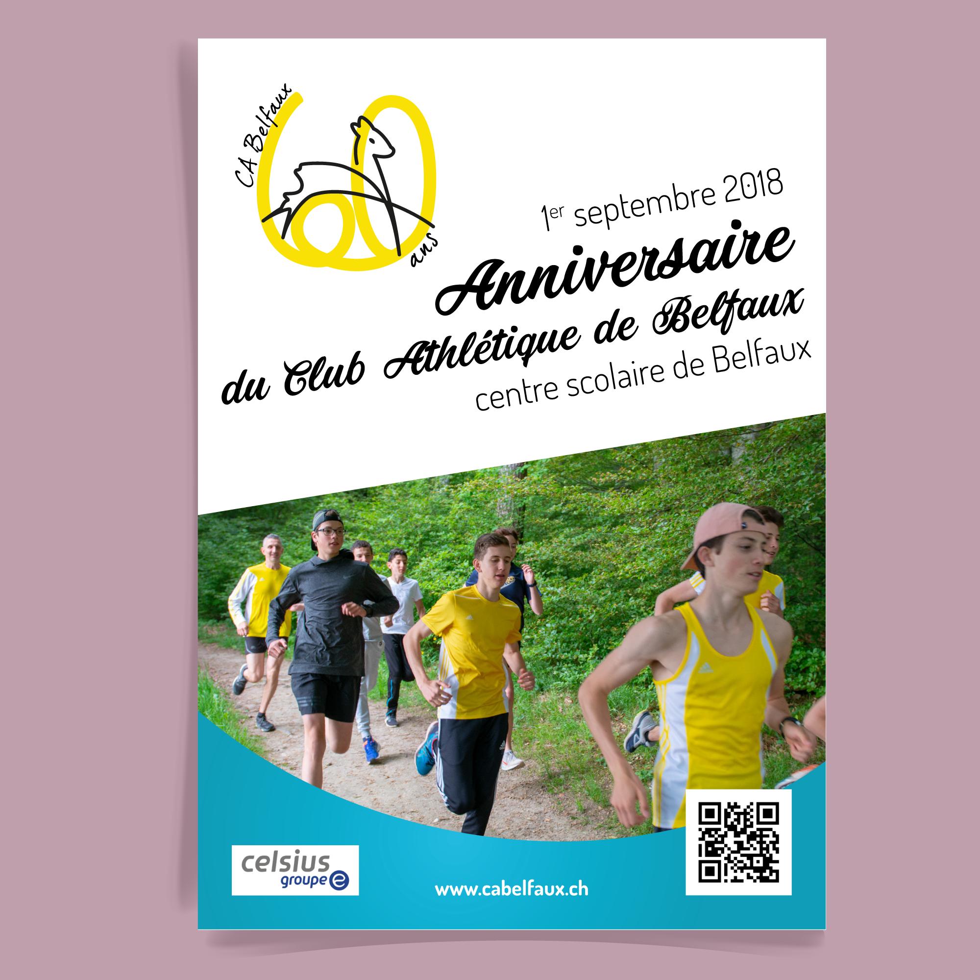 flyer pour annoncer la course