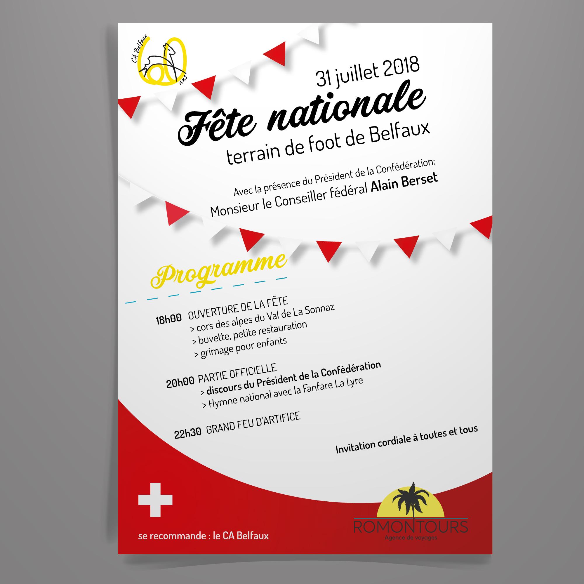 flyer pour la fête nationale